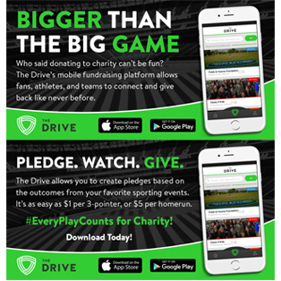 The Drive App social media graphics